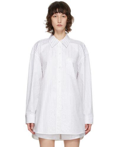 Biała koszula oxford bawełniana z długimi rękawami Alexander Wang