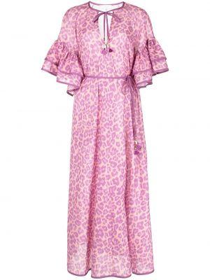 Фиолетовое платье леопардовое Zimmermann