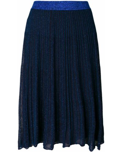 Синяя плиссированная юбка из вискозы Twin-set
