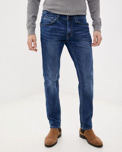 Синие зауженные джинсы-скинни Mustang