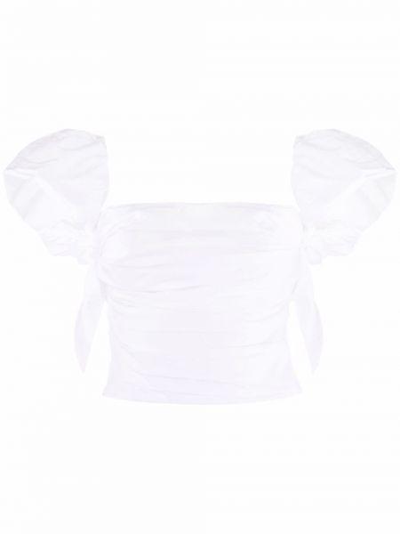 Хлопковый белый кроп-топ без рукавов Pinko
