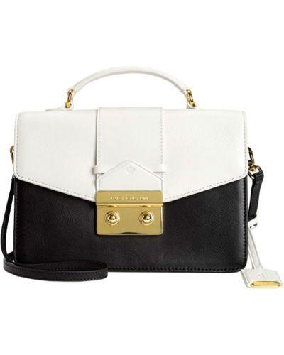 Кожаная сумка с клапаном черная Juicy Couture