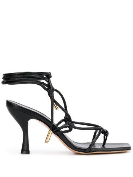 Sandały skórzany czarne Gia Couture