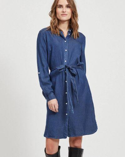 Джинсовое платье - синее Vila
