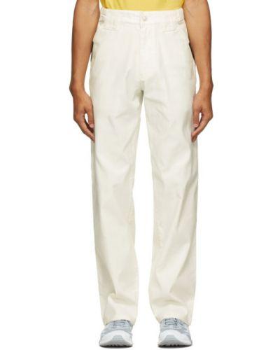Прямые парусиновые белые прямые брюки с поясом Affix