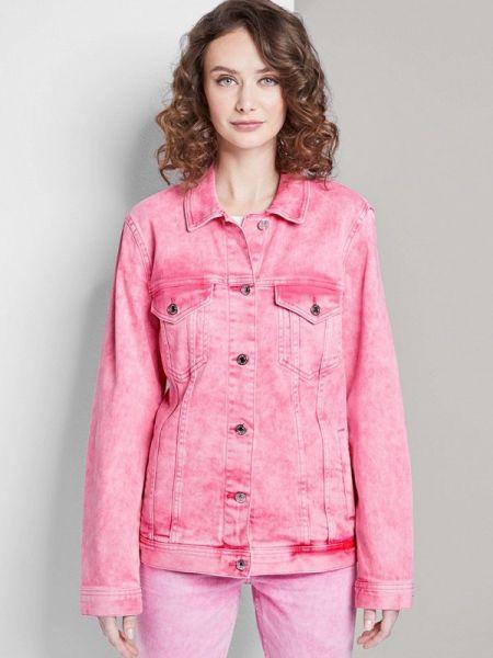 Джинсовая куртка весенняя розовая Tom Tailor Denim