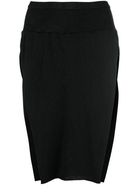 Ватная хлопковая черная юбка Rick Owens Drkshdw