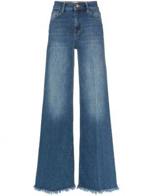 Широкие джинсы синие на пуговицах Frame