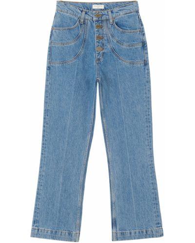 Хлопковые джинсы с карманами на пуговицах Sandro