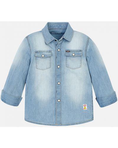 Джинсовая рубашка голубой Mayoral