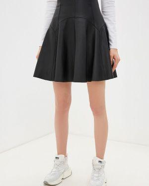 Кожаная юбка спортивная Sportmax Code