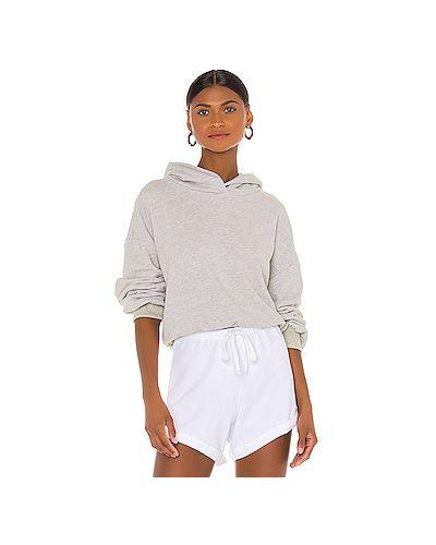 Хлопковый серый свитер крупной вязки Lna