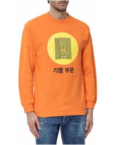 Pomarańczowa bluza dresowa z printem Pleasures