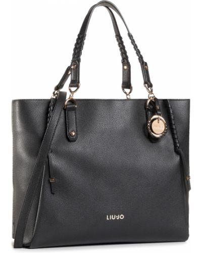 Czarny torba na zakupy Liu Jo