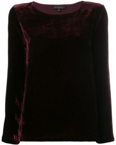 Блузка бархатная красная Antonelli