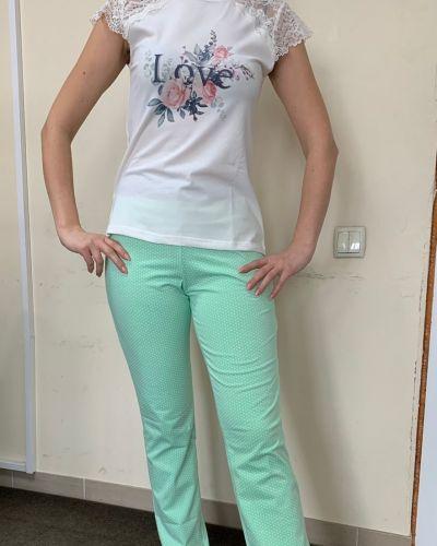 Пижамная домашняя хлопковая пижама с брюками Ellen