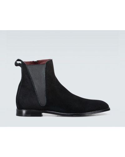 Черные замшевые сапоги на молнии Dolce & Gabbana