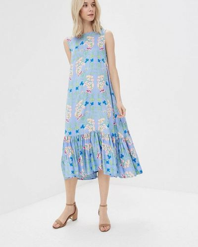 Голубое платье весеннее Madam T