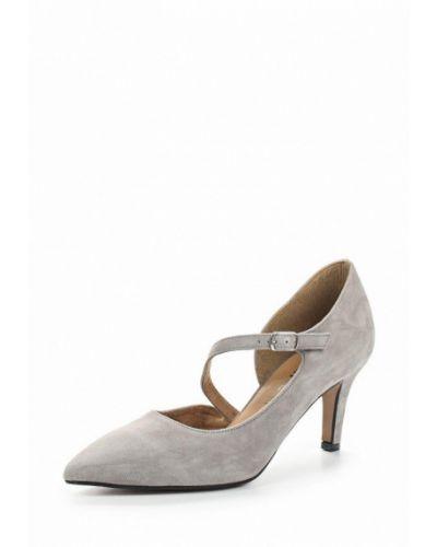 Туфли на каблуке с застежкой на лодыжке замшевые Tamaris