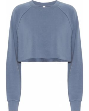 Niebieska crop top bawełniana Alo Yoga