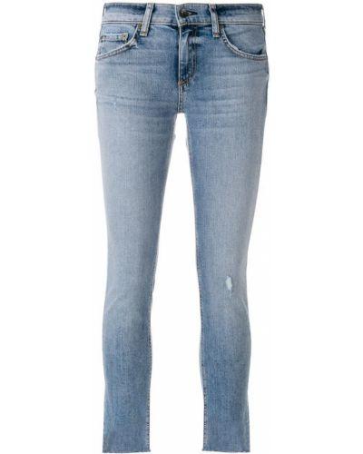 Синие укороченные джинсы Rag & Bone/jean