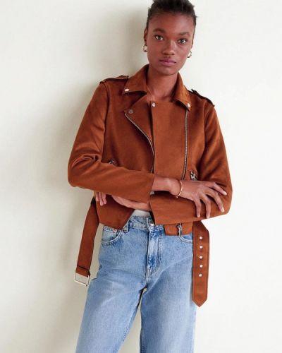 Куртка весенняя коричневая Mango