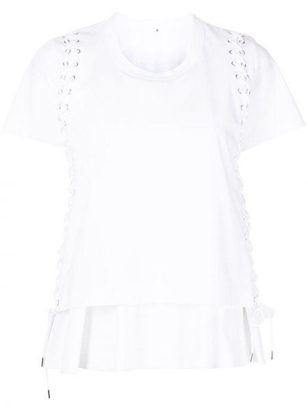 Хлопковая белая футболка с вырезом Comme Des Garçons Noir Kei Ninomiya