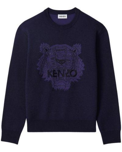 Zielony długi sweter z długimi rękawami na co dzień Kenzo