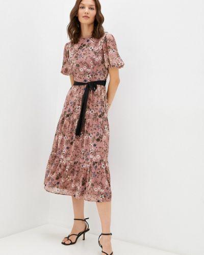 Розовое платье осеннее Cavo