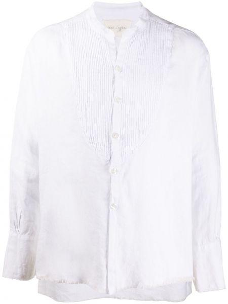 Biała koszula z długimi rękawami Greg Lauren