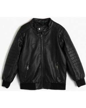 Куртка черная кожаная Koton