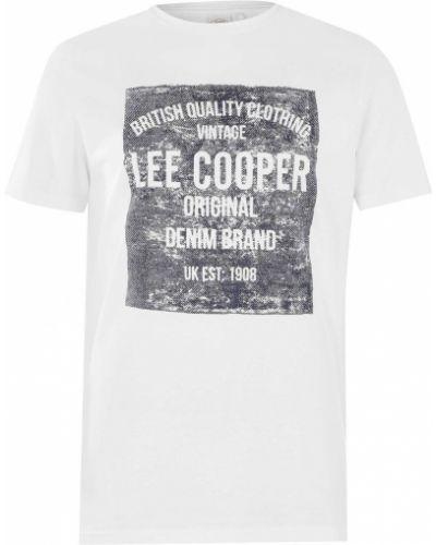 Niebieska koszula jeansowa krótki rękaw na co dzień Lee Cooper