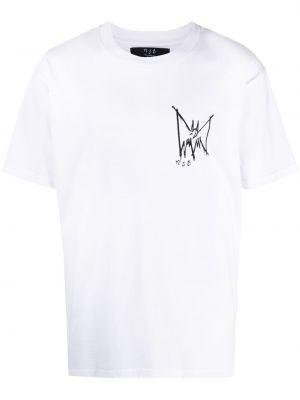 Biały t-shirt bawełniany krótki rękaw Mjb Marc Jacques Burton