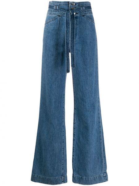 Широкие джинсы синие J Brand