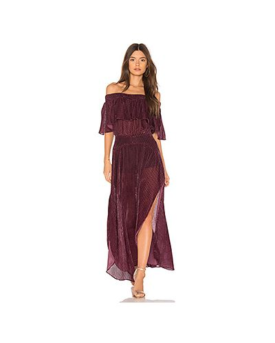 Платье макси со складками шелковое Flynn Skye