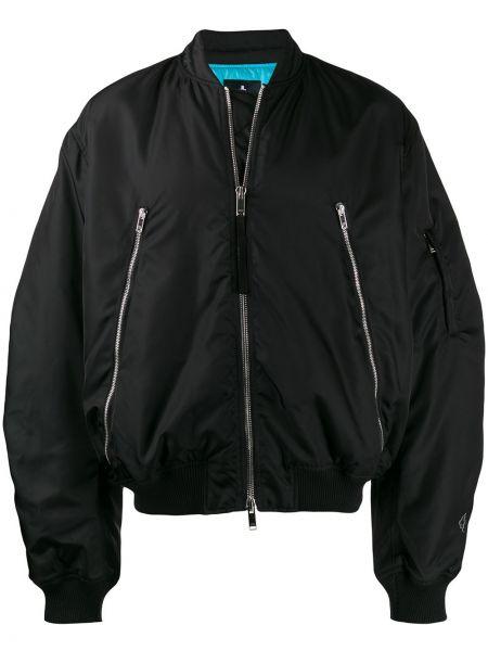 Długa kurtka czarna krótki Marcelo Burlon County Of Milan