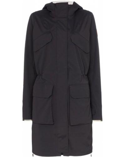 Куртка с капюшоном черная в полоску Canada Goose
