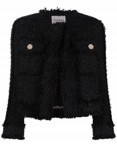 Czarna kurtka wełniana Edward Achour Paris