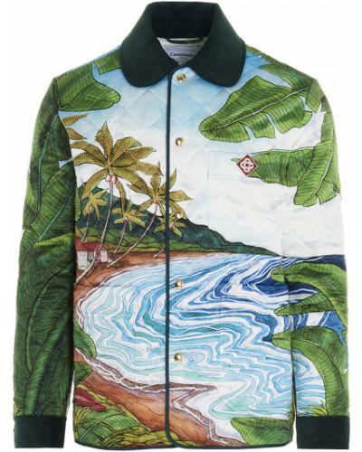 Zielony płaszcz Casablanca
