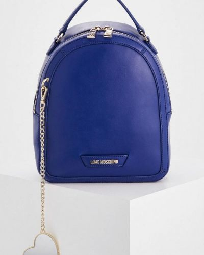 Синий рюкзак Love Moschino
