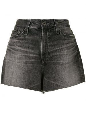 Джинсовые шорты с завышенной талией - черные Ag Jeans