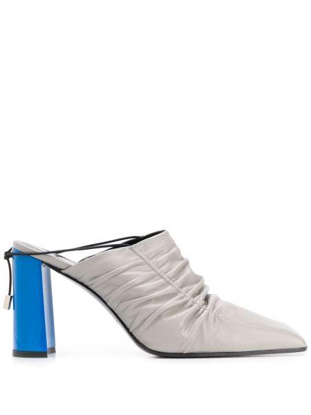 Мюли на каблуке с квадратным носком квадратные Nina Ricci