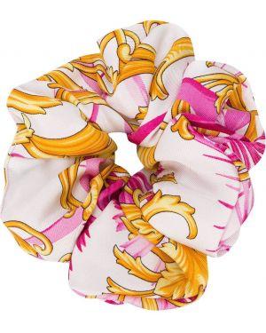 Резинка для волос из золота белый Versace