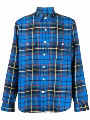 Рубашка с длинным рукавом - синяя Polo Ralph Lauren