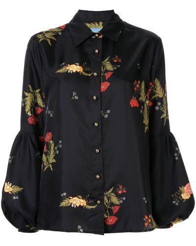 Блузка с длинным рукавом с цветочным принтом классическая Macgraw