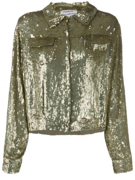 Куртка с пайетками на пуговицах P.a.r.o.s.h.
