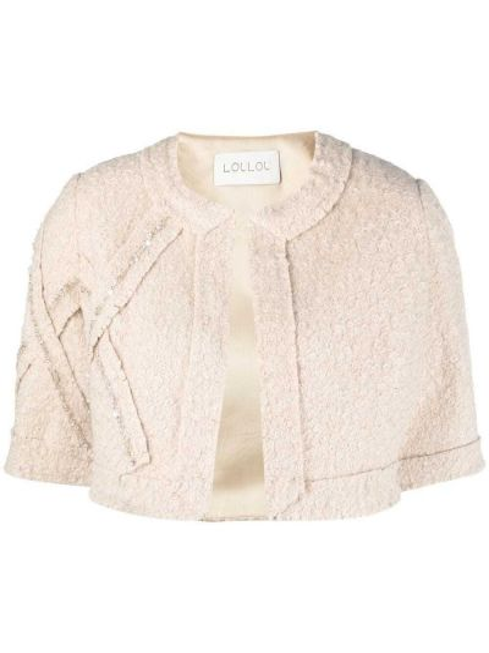 Удлиненный пиджак круглый из вискозы с вырезом Loulou