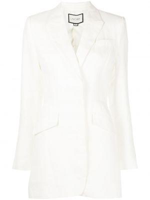 Белый приталенный пиджак Alexis
