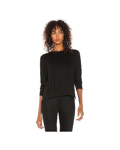 Черный свитер из вискозы для йоги Beyond Yoga