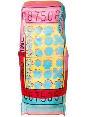 Шелковое асимметричное платье винтажное без бретелек Stephen Sprouse Pre-owned